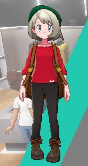 バスクシャツ-レッド女