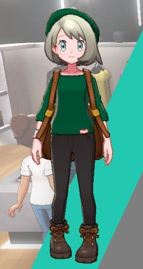 バスクシャツ-グリーン女