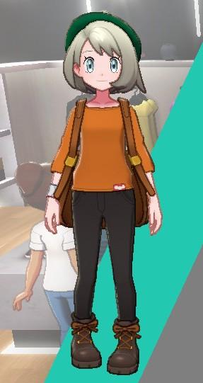 バスクシャツ-オレンジ女