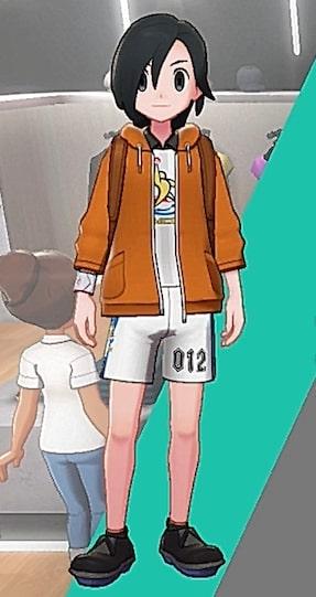 スウェットパーカー-オレンジ男