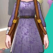 サテンプリーツドレス(12色)