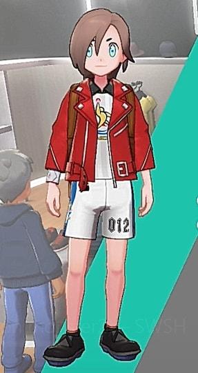 ライダースジャケット-レッド男