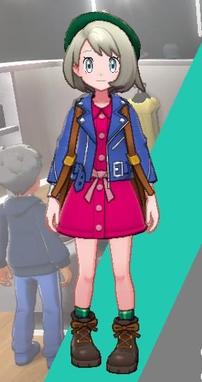 ライダースジャケット-ブルー女