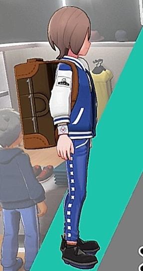 レザーパンツ-ブルー男