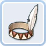 インディアンのヘアバンド