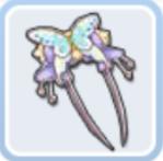 蝶のヘアピン