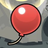 赤い風船の画像