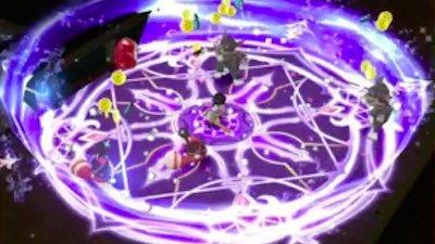 茶熊ディランのスキル1_波紋のような円形の攻撃を放っている