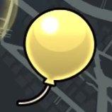 黄色い風船の画像