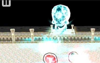 テオが光弾攻撃をしている画像